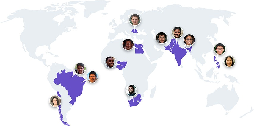 Mikrostipendijų gavėjų žemėlapis