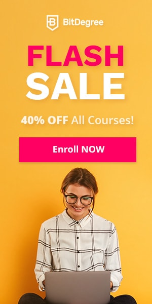 BitDegree Flash Sale: Save up to 40% OFF all courses!