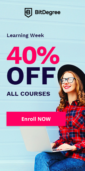 BitDegree Learning Week: Save up to 15% OFF all courses!